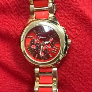 Accessories - Red and Gold watch